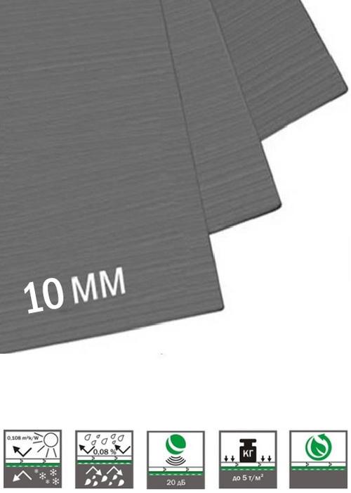 Подложка за мокет, екструдирана пяна, 10mm