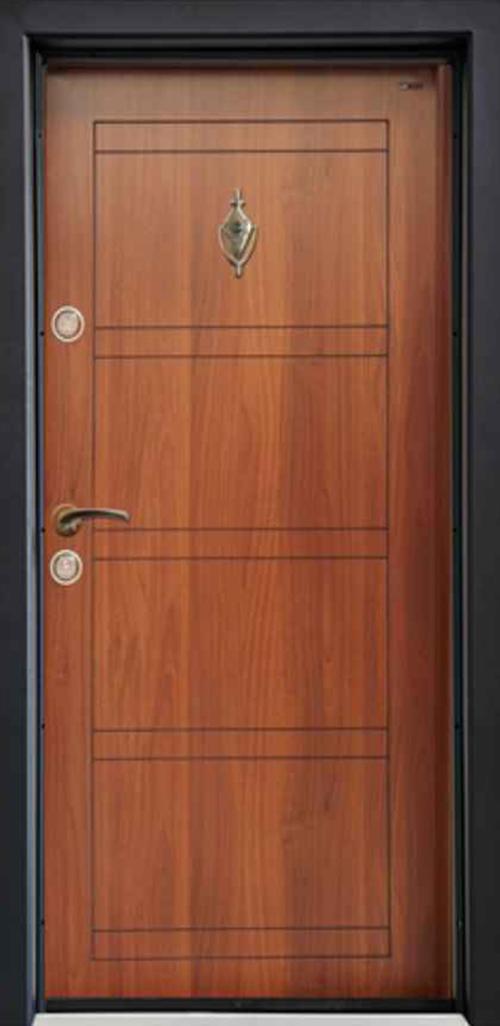 Входна врата Parkdor SL102 90 см. дясна - металик орех