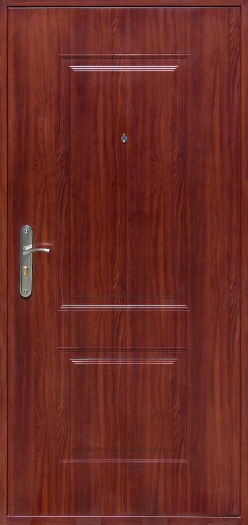 Входна врата Tau, дясна с каса - орех червен