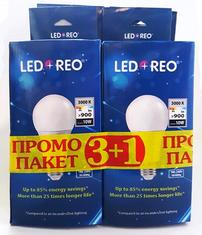 LED крушка 10W E27, топла, Промо пакет 3+1 бр.