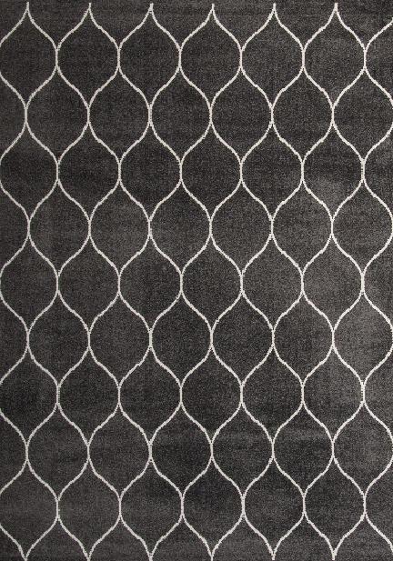Килим Ambiance, сив (81255/antracite/white)