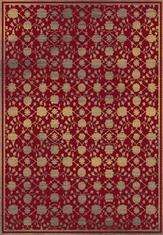 Килим Bohemian, червен (23110/taupe/red)