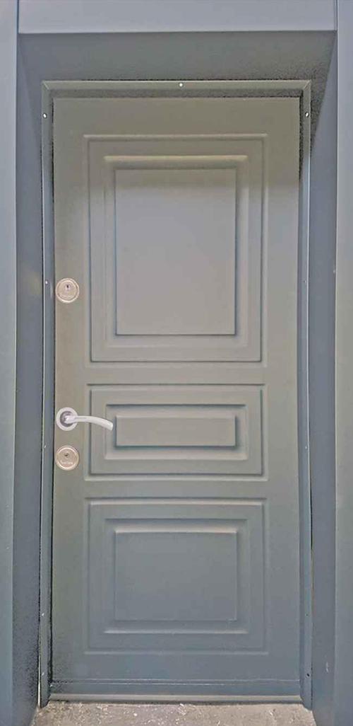 Входна врата за външни условия LP12 90 см. дясна - антрацит