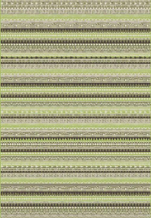 Килим Cosi, зелен (78415/ivory/green)