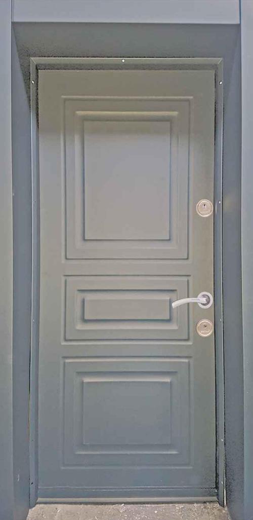 Входна врата за външни условия LP12 90 см. лява - антрацит
