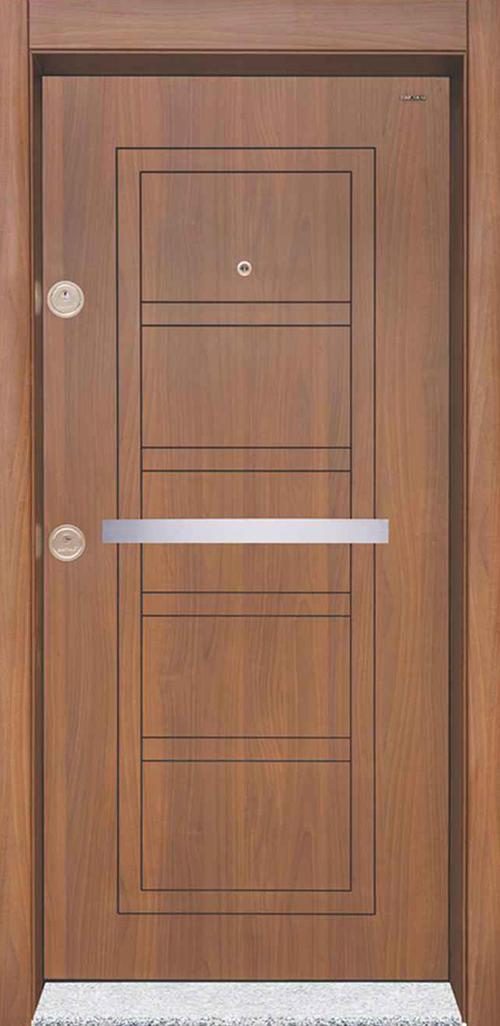 Входна врата Starlife SL202 90 см. дясна - металик орех
