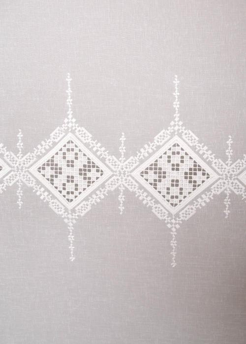 Перде DV Alkan 244026/01, бяло / 290 см.