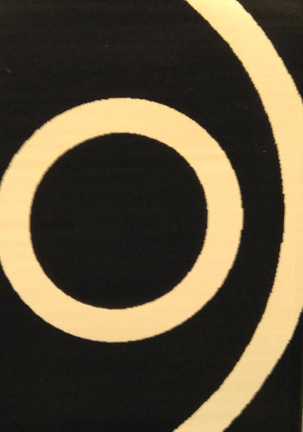 Килим Adipe Circle Black