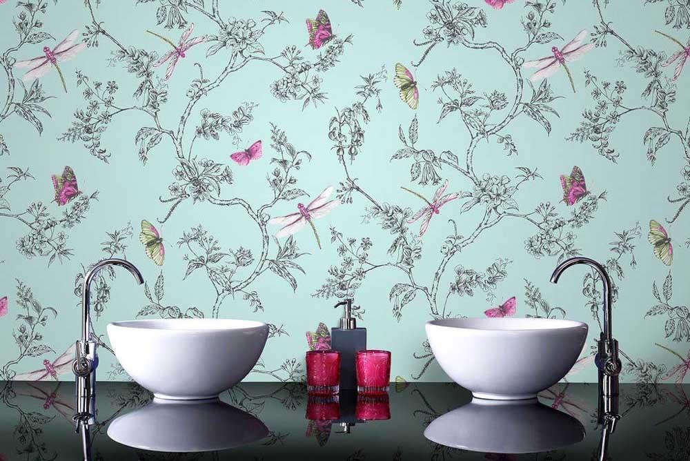 Съществуват ли подходящи тапети за баня?