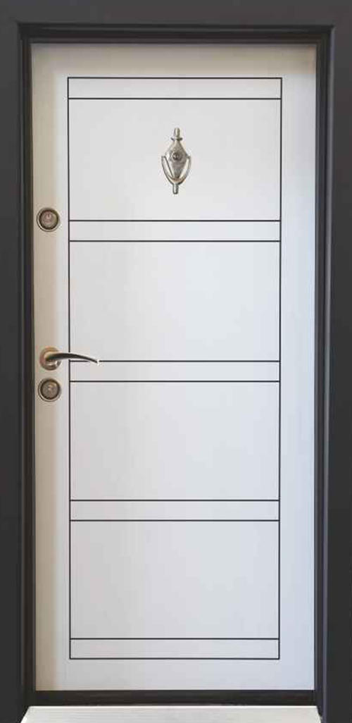 Входна врата Parkdor SL102 90 см. дясна - бяла перла