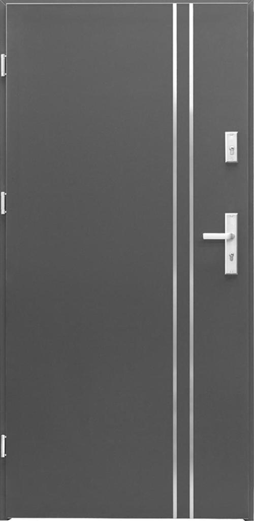 Входна врата Miami, лява с каса - антрацит