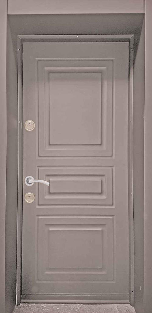 Входна врата за външни условия LP12 90 см. дясна - кафява