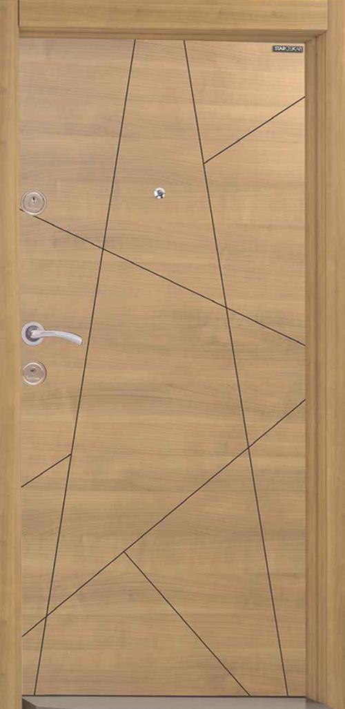 Входна врата Starlife SL127 90 см. дясна - череша