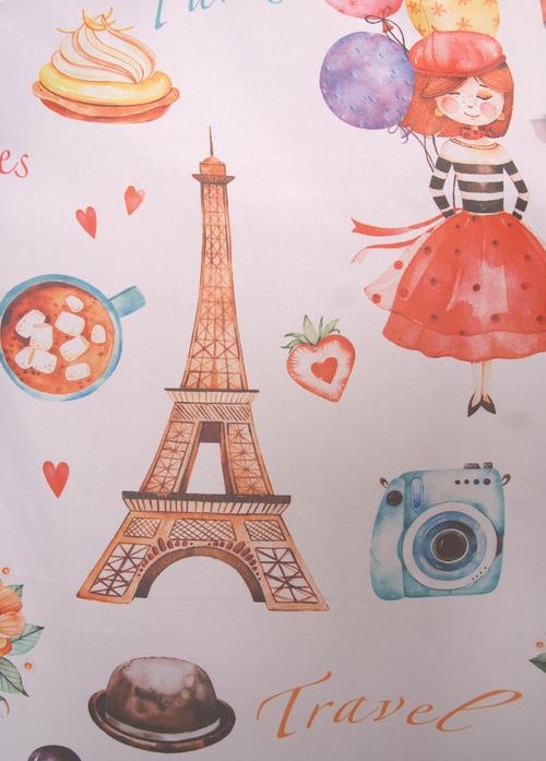 Перде Париж Art 0310/001, многоцветен / 280 см.
