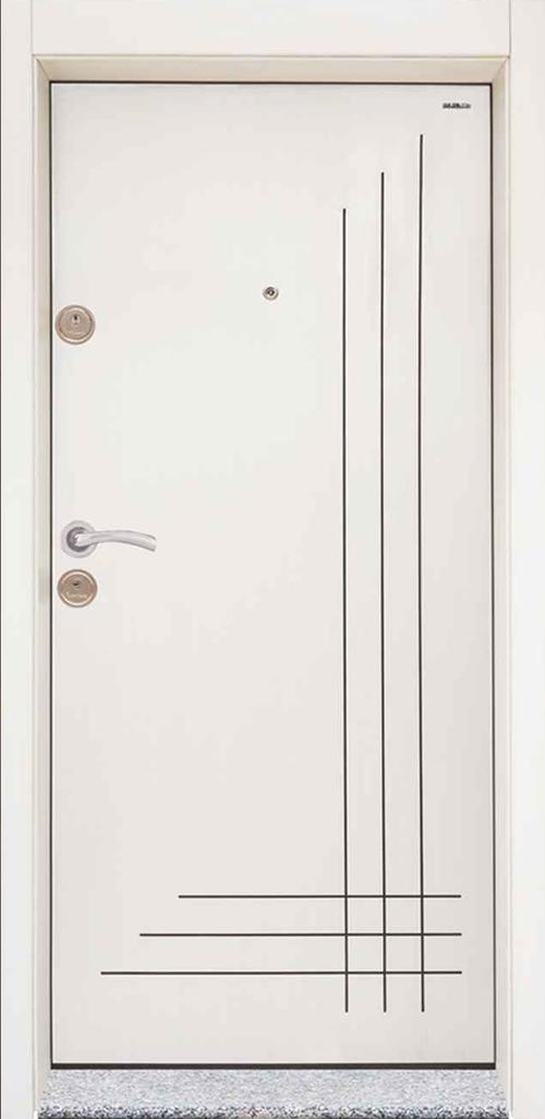 Входна врата Starlife SL204 90 см. дясна - бяла перла