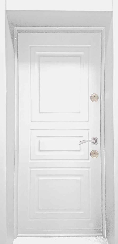 Входна врата за външни условия LP12 90 см. лява - бяла