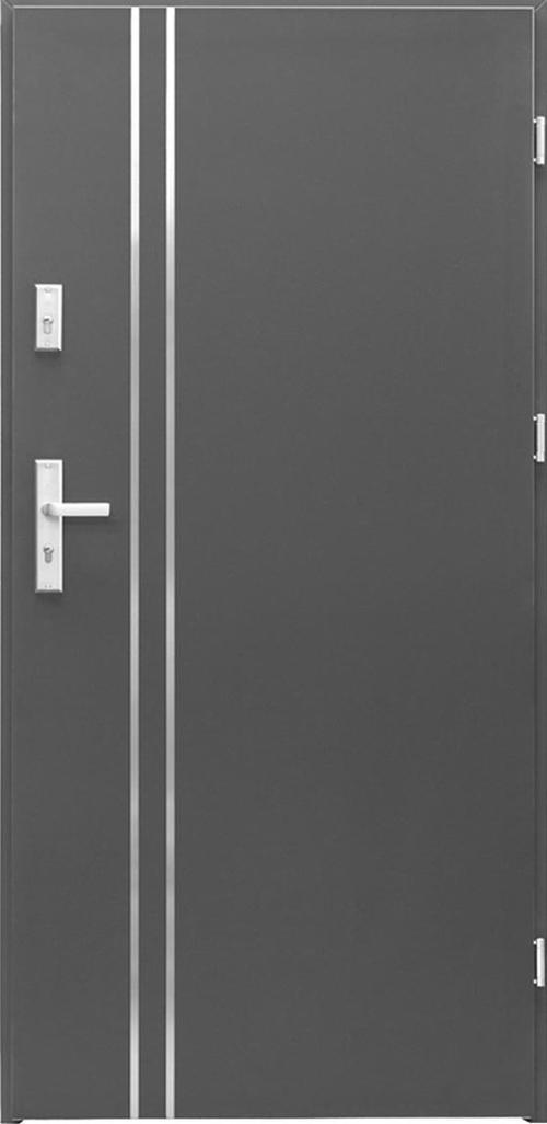 Входна врата Miami, дясна с каса - антрацит