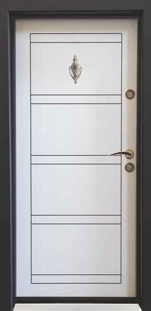 Входна врата Parkdor SL102 90 см. лява - бяла перла