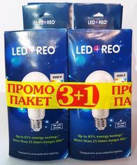 LED крушка 10W E27, студена, Промо пакет 3+1 бр.