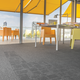 Block carpet tile, gray (960)