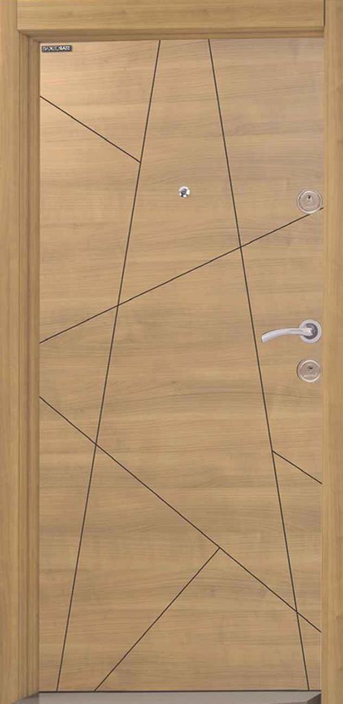 Входна врата Starlife SL127 90 см. лява - череша