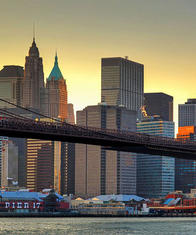 Фототапет Brooklyn Bridge At Sunset 366*254 - 148