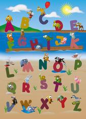 Фототапет Animal Alphabet 183*254
