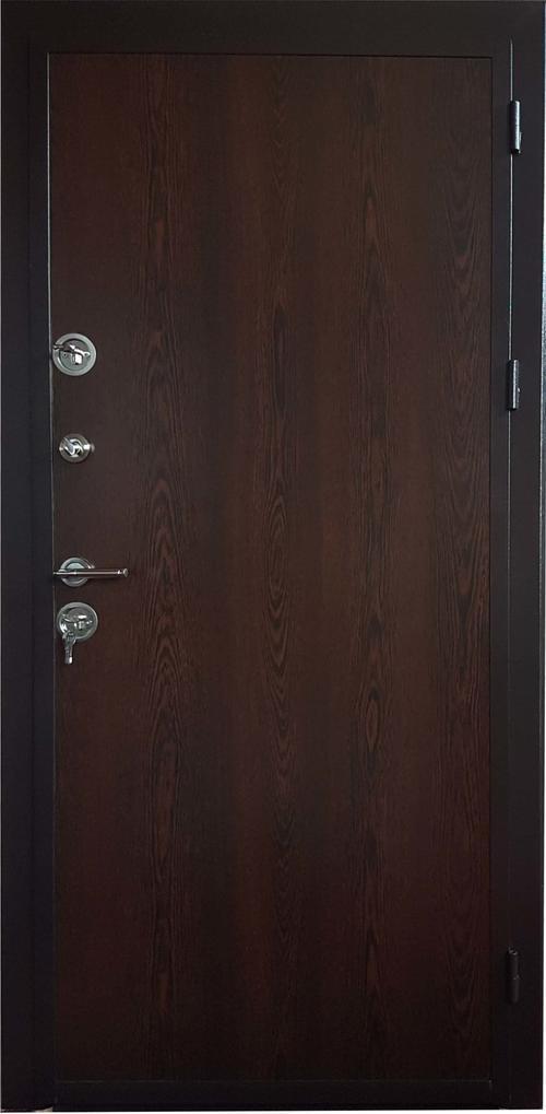 Входна врата Lamicra с каса 280-350, дясна - венге